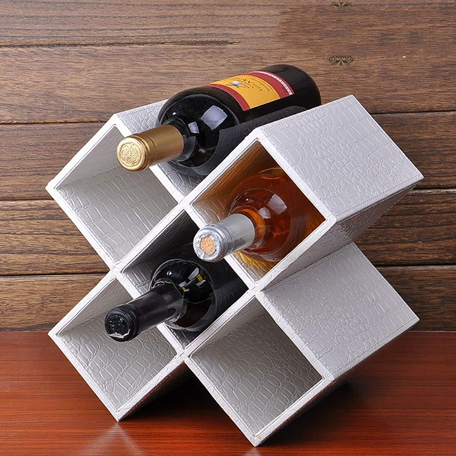 Wine Rack Decoration Wine Bottle Rack Solid Wood Wine Cabinet Rack 28  20  28cm (color   B)