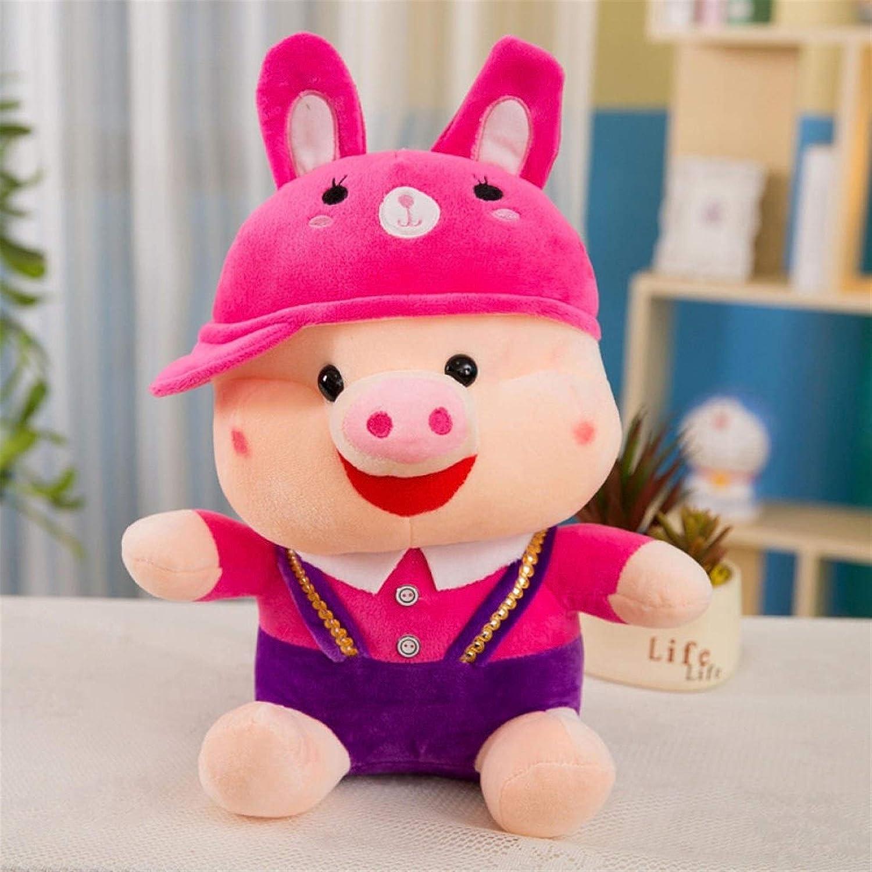 VINVITO Soft Toys Cartoon Cute Plush Overalls Doll Personali Pig Trust Max 81% OFF