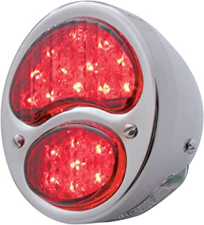 United Pacific FTL2831LED-AL 19 4 White LED 1928-1931 Ford Tail Light W/Stainless Steel HOUSING-RED/Clear Lens (12V)