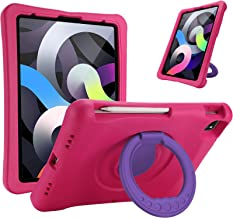 """ProCase Kids Case for iPad Air 4 10.9"""" 2020 / iPad Pro 11 2020 & 2018, Shockproof Rotate Handle Folding Stand Cover Light ..."""