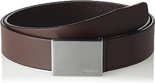 حزام رجالي رسمي مُزين بتوكة معدنية 3 من كالفن كلاين، لون بني (لون القهوة التركية 201)، 80