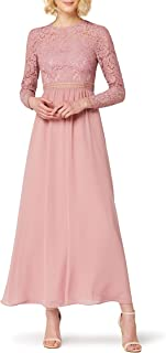 TRUTH & FABLE Amazon-Marke: TRUTH & FABLE Damen Maxi A-Linien-Kleid aus Spitze