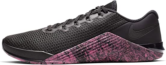 Nike Men's Metcon 5 Training Shoes (9, Black/Oil Grey/Sunset Pulse)