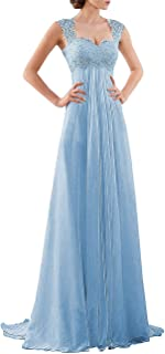 DYS Women's Empire Waist Bridesmaid Wedding Party Dress Lace Formal Evening Gown