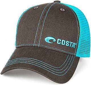8ec82dd56ee1e Costa Neon Trucker Offset Logo Graphite Hat