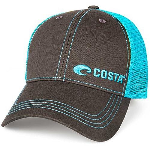 d735aafbf9d Costa Neon Trucker Offset Logo Graphite Hat