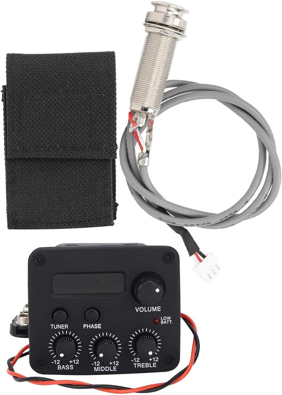 Pastilla de guitarra, pantalla LCD negra de 3 segmentos, pastilla de boca de guitarra ajustable, accesorios de instrumentos musicales para guitarra acústica para profesores