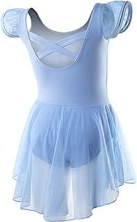 DIPUG Ballet Leotards for Girls Dance Leotard Toddler with Skirt Ballet Dress