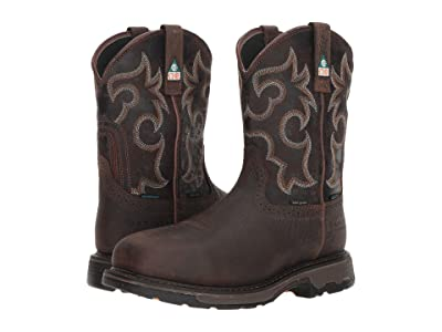 Ariat Workhog Wide Square Toe H2O 600G CSA Composite Toe (Bruin Brown/Crazy Black) Men