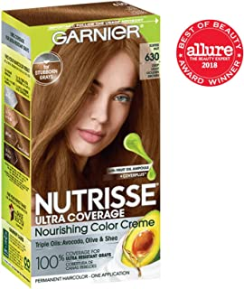 Garnier Nutrisse Ultra Coverage Hair Color, Deep Light Golden Brown (Toffee Nut) 630 (Packaging May Vary), Pack of 1