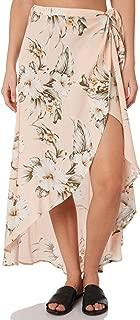 Rip Curl Women's Island Time Wrap Skirt Viscose Yellow