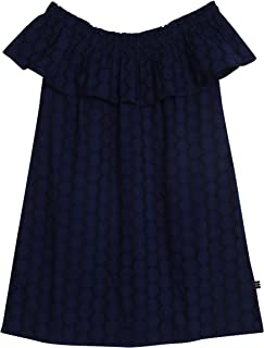 girls navy eyelet dress