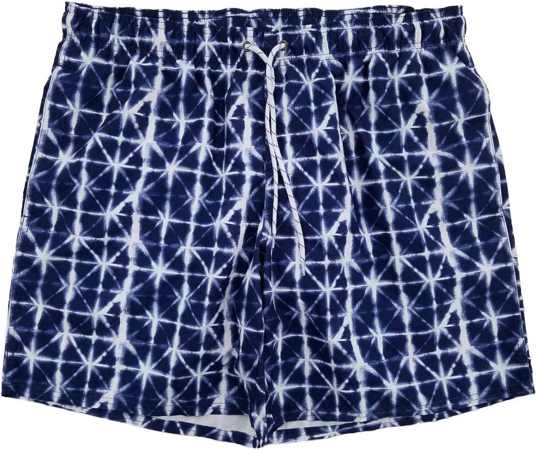 St. John's Bay Mens Navy Geo Board Shorts Swim Trunks