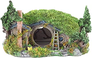 OMEM 爬虫類シェルター 亀隠れ家 繁殖 加湿隠す洞窟ハウス 水槽飾り物アクセサリー