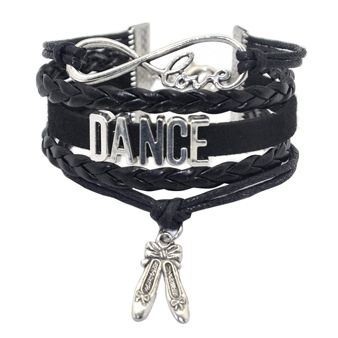 HHHbeauty Girls Dance Bracelet Dancing Belly Ballroom Just Dance Charm Bracelet Dancer Gifts for Women, Girls, Dancers, Men, Boys, Dance Mom, Dance Teacher, Dance Lovers