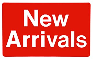 """New Arrivals Business Shopping Message Sign - Durable Waterproof Plastic 7""""x 11"""" Price Signs - Boost Sales with Bright Display Signs - Promote Business at Retail Stores"""