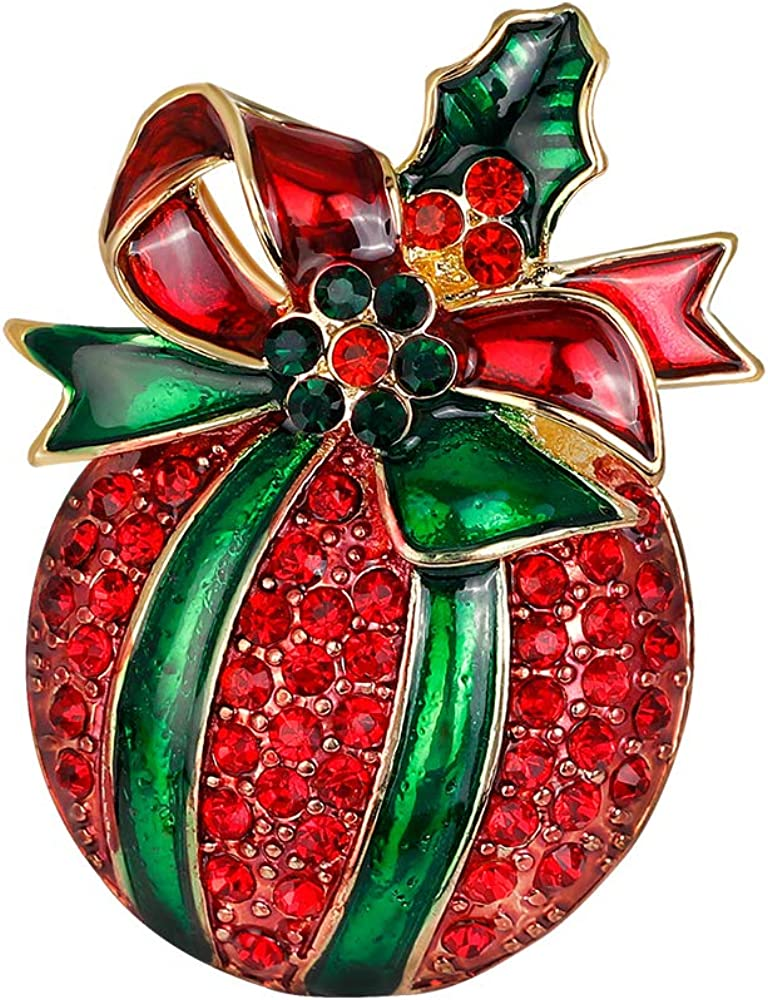 YAZILIND Al sold out. Women Girls Rhinestone Jewelry Houston Mall Gift Brooch Pi Christmas
