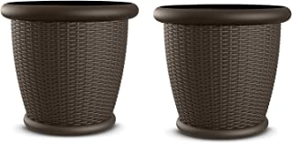 Best square resin planters Reviews