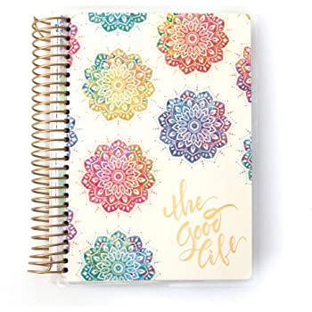 Paper House Productions PL4007 Watercolor Mandala 12 Month Mini Planner Undated Laminated Cover