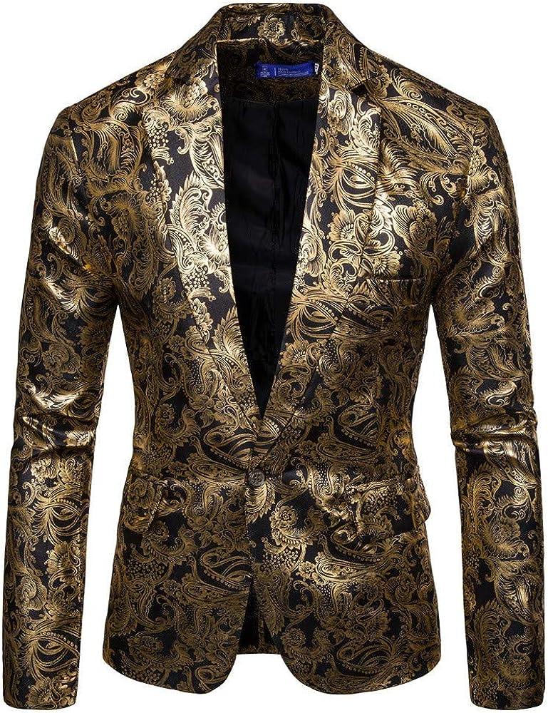 MODOQO Men's Suit Slim Fit Fashion Blazer Tuxedo for Party Prom