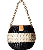 Frances Valentine - Honeypot Color Block Straw Bucket Bag