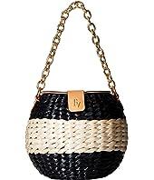 Frances Valentine - Honeypot Color Block Straw Bucket Bag