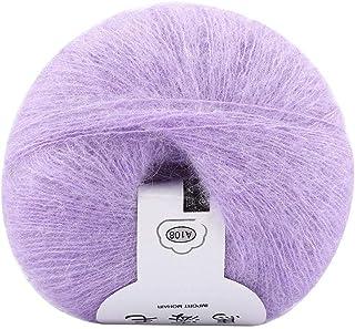 Agatige Soft Mohair Knitting Wool Yarn Crochet Thread Supplies for Homemade Shawl Scarf Sweater (Purple)