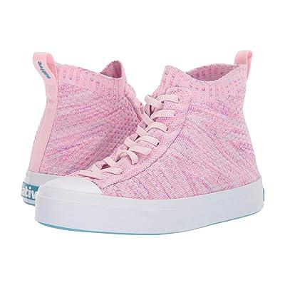 Native Kids Shoes Jefferson 2.0 High Lite (Little Kid) (Lantern Pink Melange/Shell White) Girl