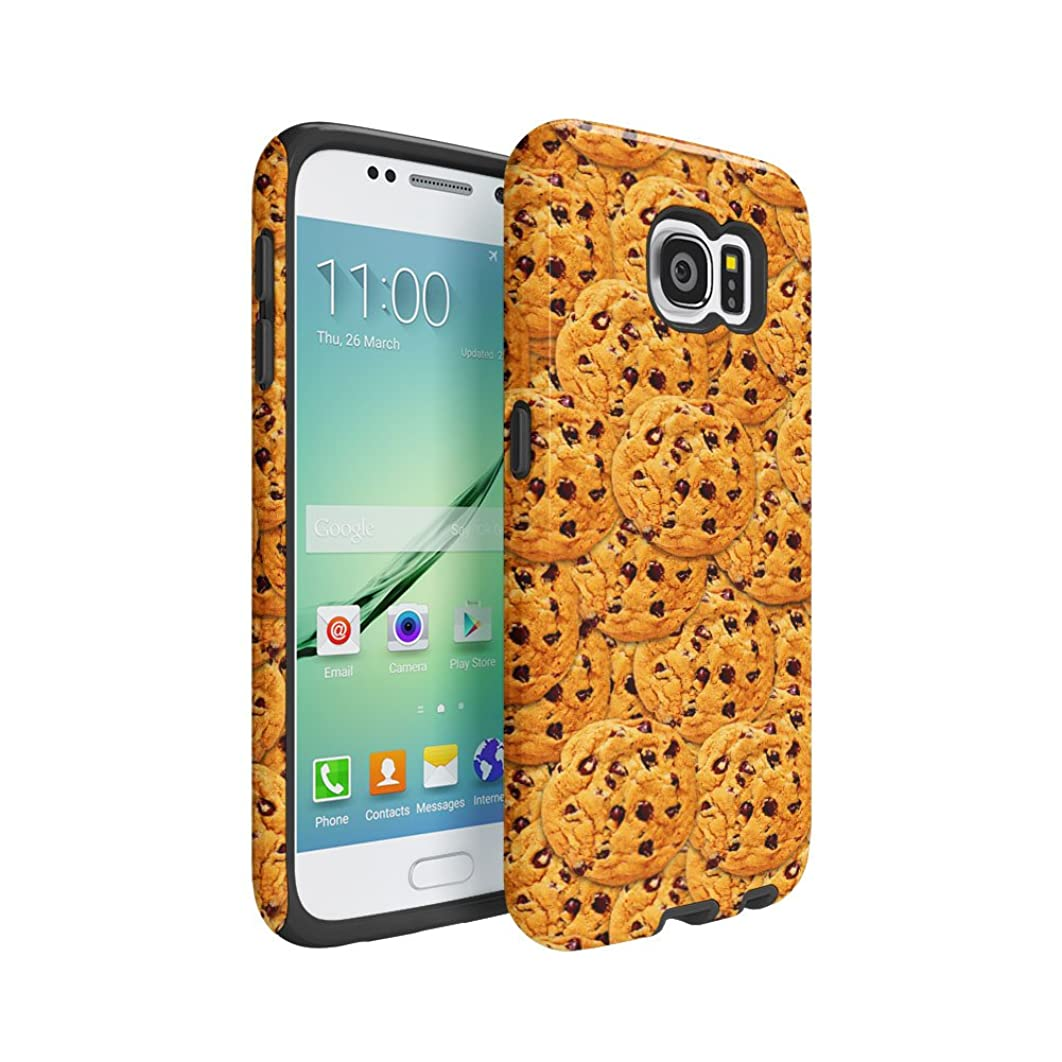 Cookies Pattern Samsung Galaxy S6 Silicone Inner / Outer Hard PC Shell Hybrid Armor Protective Case Cover
