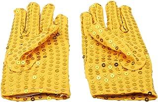 lnlyin Kinder Pailletten Handschuh Sparkly Pailletten Fancy Kleid Party Handschuh Cosplay Kostüm, Gold, Einheitsgröße