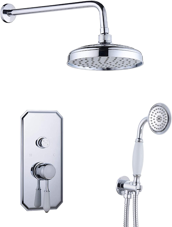 Wasserrhythm 20 Inches Bathroom Luxury Rain Mixer Shower Combo Set ...