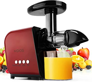 KOIOS Juicer, Slow Masticating Juicer Extractor with Reverse Function, Cold Press Juicer Machine with Quiet Motor, Juice Jug