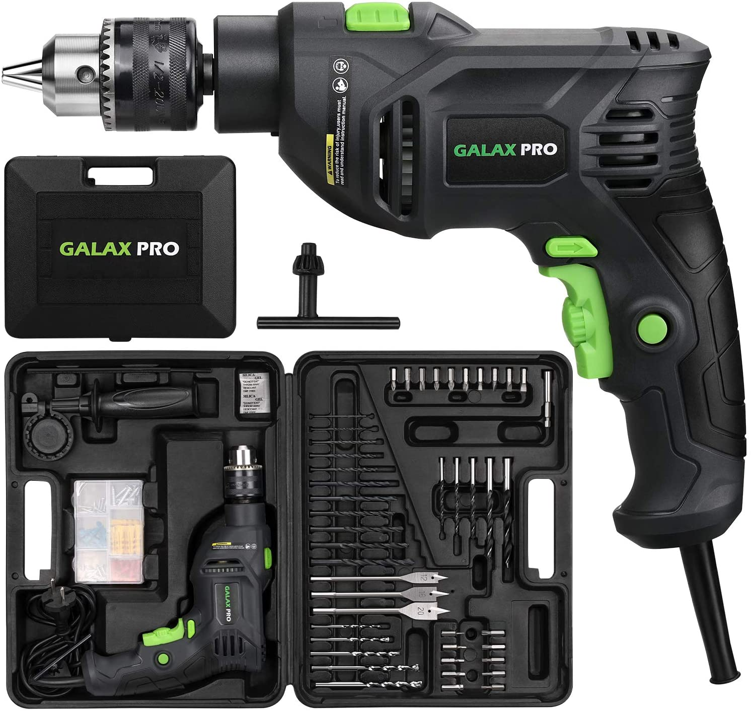 Nippon regular agency Online limited product GALAX PRO 5Amp 1 2-inch Corded Accessor Impact Drill with 105pcs