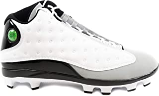 Jordan Men's Baseball Cleat Air XIII Retro MCS (10.5, White/Black/Gray)