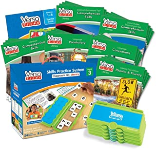 hand2mind VersaTiles Literacy Classroom Set, an Independent Self-Checking & Skill Practicing System (Grade 3), Aligned to State and National Standards