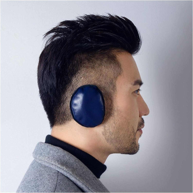 Men's Strapless Warm Earmuffs Fleece Ear Muffs -Creative Fashion Style Warm Winter Ear Warmers Suitable for Cold Winter (Color : Cyan)