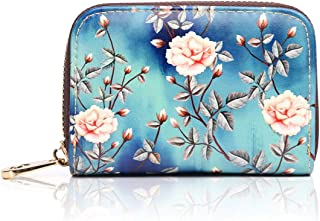 APHISON RFID Credit Card Holder Wallets for Women Leather Zipper Card Case for Ladies Girls/Gift Box