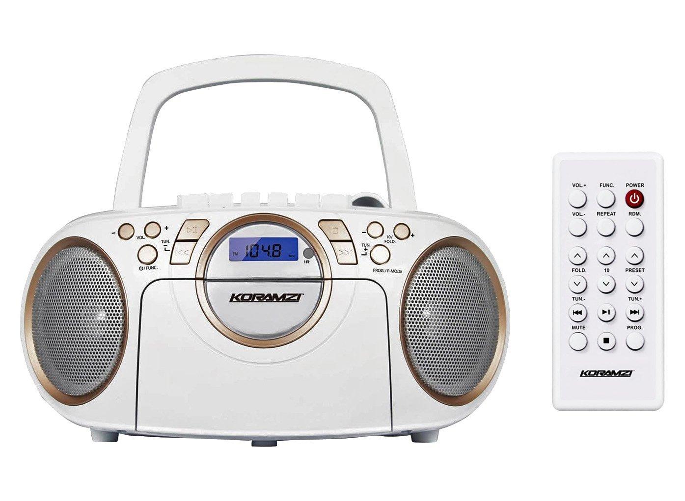 Koramzi Portable Top Loading Headphone CD705CWH