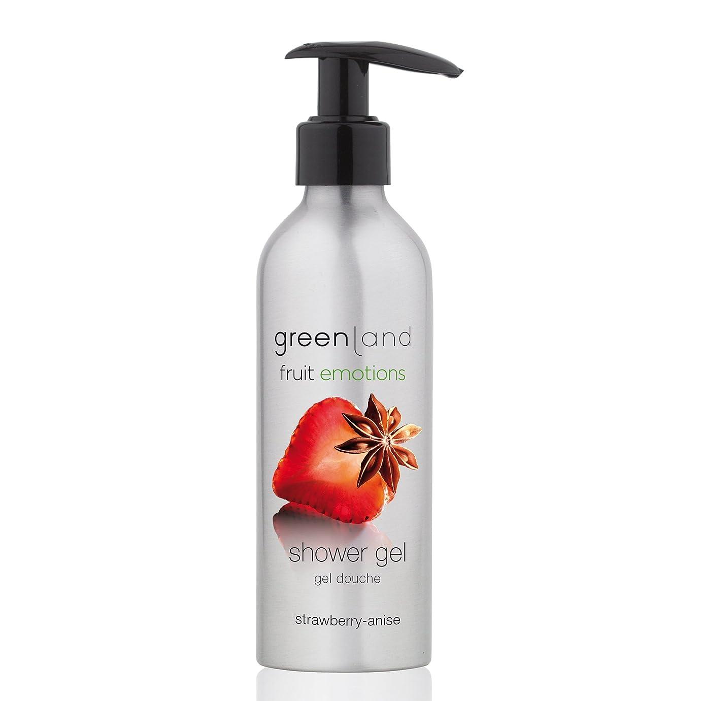 立派な食料品店医薬品greenland [FruitEmotions] シャワージェル 200ml ストロベリー&アニス FE0217