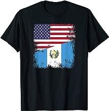 Half Guatemalan Flag T-Shirt | Vintage Guatemala USA Gift