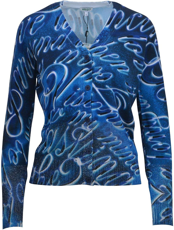 Kenzo Women's F751CA55080777 bluee Viscose Cardigan