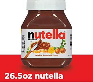 Nutella Chocolate Hazelnut Spread, Perfect Topping for Pancakes, 26.5 Ounce (Pack of 1)