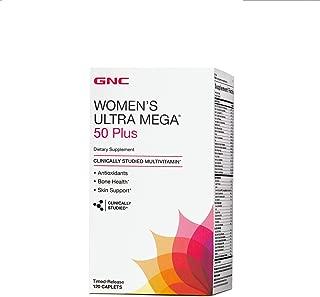 GNC Womens Ultra Mega 50 Plus Multivitamin for Women, 120 Count, Vitamin, Multivitamin