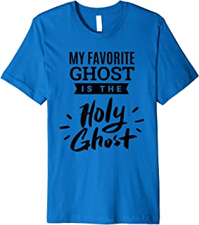 My favorite ghost is the Holy Ghost - Christian Halloween Premium T-Shirt