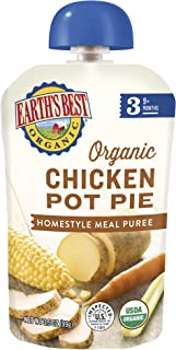 Earth's Best Organic Stage 3 Baby Food, Chicken Pot Pie, 3.5 oz. Pouch- 6 pack