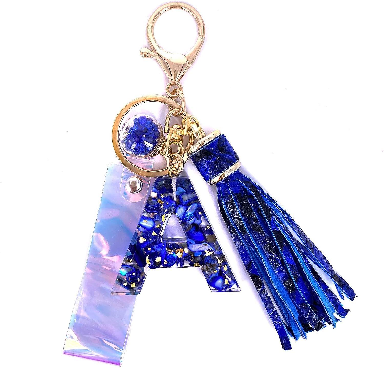 Letter \u201cX\u201d Keychain Blue Letter X Epoxy Resin