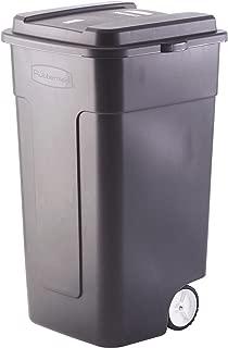 Black Industrial Strength 50-Gallon Wheeled Trashcan
