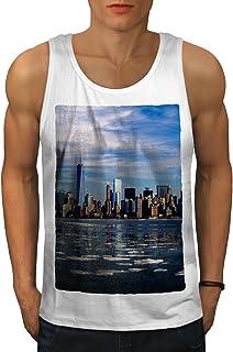 Wellcoda アメリカ合衆国 新しい ニューヨーク シティ ファッション 男性用 S-2XL タンクトップ