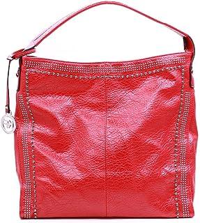 Nobasic Women's Inner slip in pockets Shoulder Bag, Color: Red