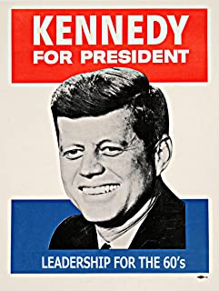 John F Kennedy Poster, Leadership for The 60s